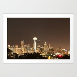 Space Needle in Gold Art Print