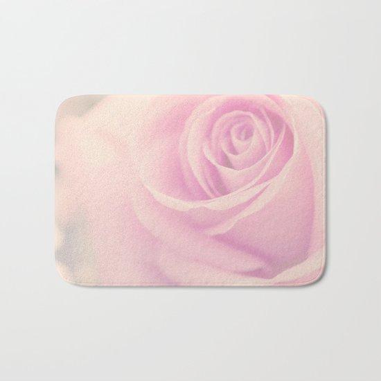 Vintage rose - Beautiful lightpink flower -Roses Bath Mat