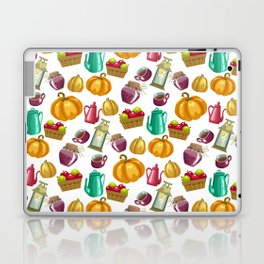 Autumn  Pattern with Food and Drink and Lamp Laptop & iPad Skin