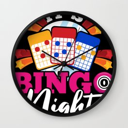 It's Bingo Night Wall Clock