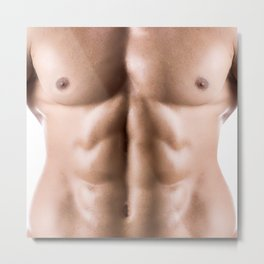 Sexy man muscle torso for sexy deco Metal Print