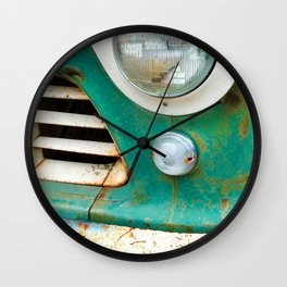 Rusty Turquoise Car Wall Clock