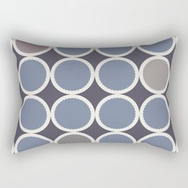 Scalloped Circles in Iris Rectangular Pillow