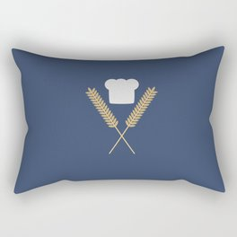 baker chef hat with wheat Rectangular Pillow