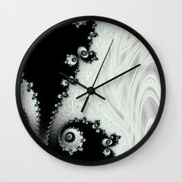 Cascading Satin - Fractal Art Wall Clock