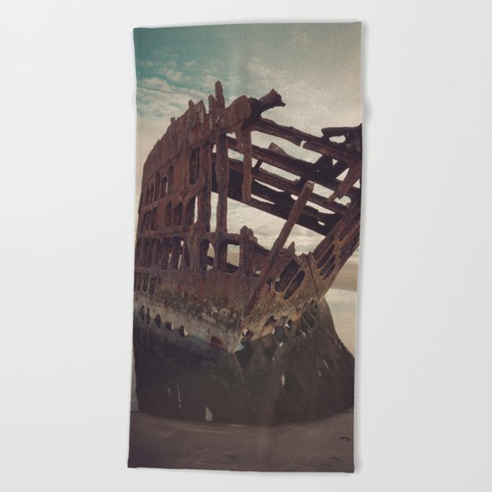 Shipwrecked - The Peter Iredale Beach Towel