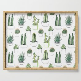 Watercolour Cacti & Succulents Serving Tray
