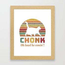 Chonk Scale Cat Meme Memes Retro Framed Art Print