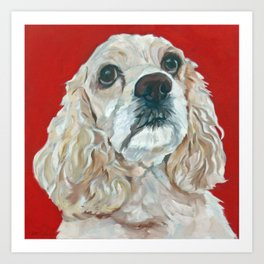 Lola the Cocker Spaniel Art Print