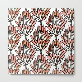 Protea Orange #homedecor Metal Print