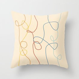 Crooked Lines #1 Throw Pillow