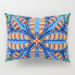 Trippy Flower Design Pillow Sham