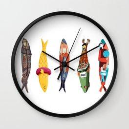Sardinhas 5 Wall Clock