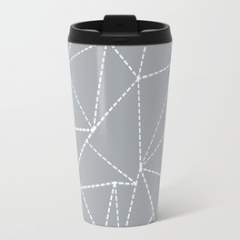 Abstract Dotted Lines Grey Travel Mug