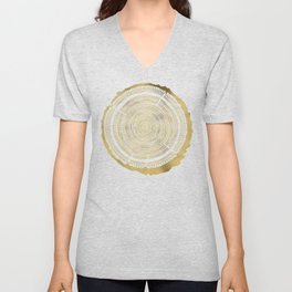 Douglas Fir – Gold Tree Rings Unisex V-Neck