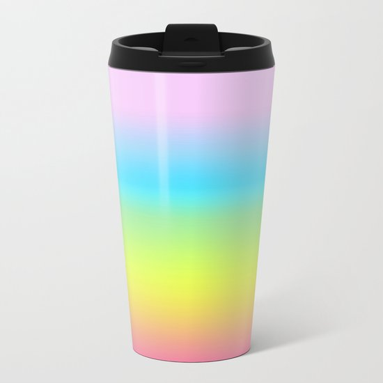Rainbow Gradient Metal Travel Mug