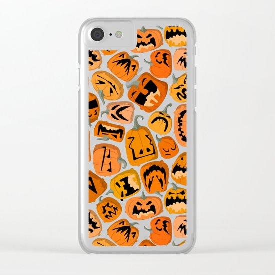 Pumpkin Brawl. Clear iPhone Case