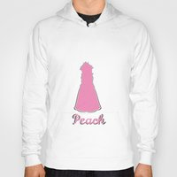 princess peach Hoodies featuring Peach by husavendaczek