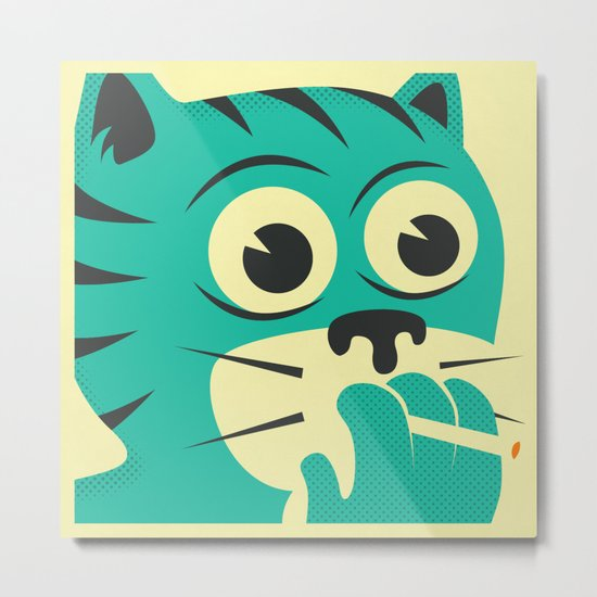 SMOKING CAT Metal Print