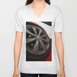 Mitsubishi Lancer Sportback Ralliart Wheel Unisex V-Neck