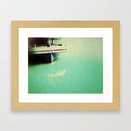 boat a'shore Framed Art Print