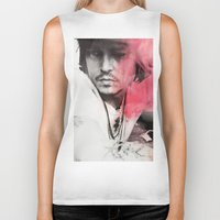 johnny depp Biker Tanks featuring Johnny Depp Artwork by E. Staugaard