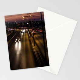 Sunset on the seaside street of Izmir (Turkey) Stationery Cards