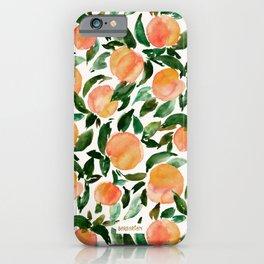 GEORGIA PEACHES Watercolor Peach Print iPhone Case