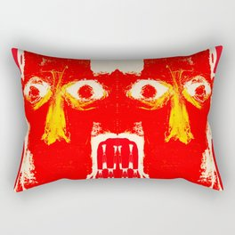 four heads and eight eyes Rectangular Pillow