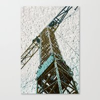 crane Canvas Prints featuring Crane by Art & Fantasy by LoRo