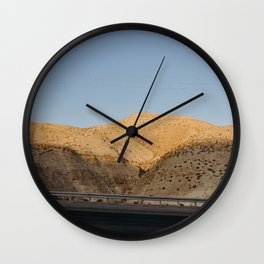 Above the Dead Sea, Isreal | Sun set golden hour and salted water | Travel photography | Mountain vi Wall Clock