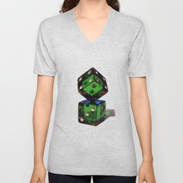 Rigged dices Unisex V-Neck