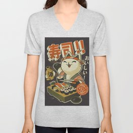 Cat Sushi Unisex V-Neck