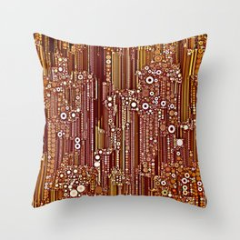 Cityscape in Earthtones Throw Pillow