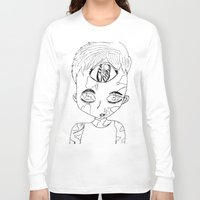 third eye Long Sleeve T-shirts featuring Third Eye by Adam M. Snowflake