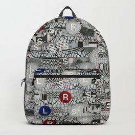 Do The Hokey Pokey (P/D3 Glitch Collage Studies) Backpack