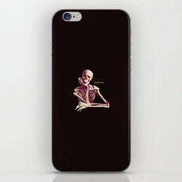 Skeleton Waiting iPhone Skin
