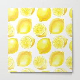 Lemons pattern design Metal Print