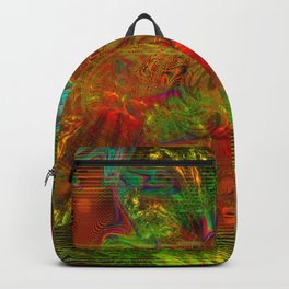 Swirling Stew (abstract, psychedelic, visionary) Backpack