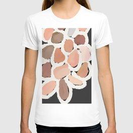 Neutral Petals, Home Decor, Abstract Wall Art, Kitchen Wall, Bathroom Wall T-shirt