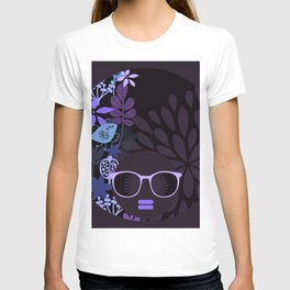 Afro Diva : Sophisticated Lady Purple Lavender T-shirt