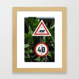 African Sign Framed Art Print
