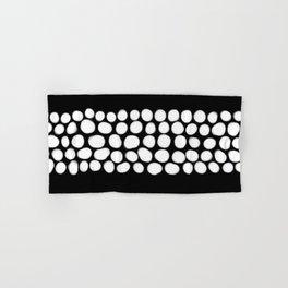 Soft White Pearls on Black Hand & Bath Towel