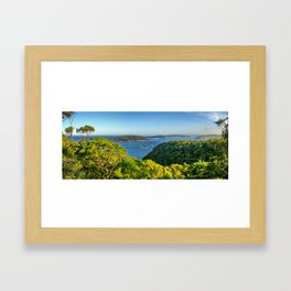 Pittwater from Ku-ring-gai Chase National Park, NSW Framed Art Print