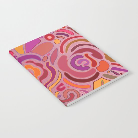Rose fragments, pink, purple and orange Notebook