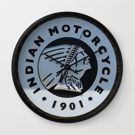 Indian Motorcycle Emblem Wall Clock