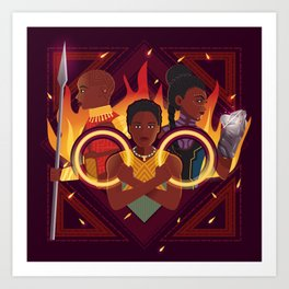 Women of Wakanda v2 Art Print