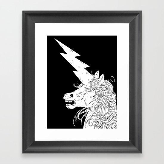 Thunderhorse Framed Art Print