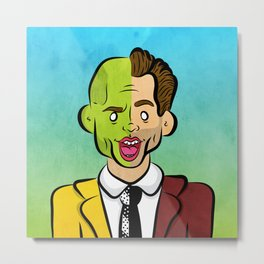 Carrey Mask Metal Print
