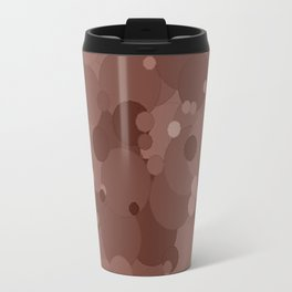 Cognac Bubble Dot Color Accent Travel Mug